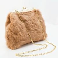 New arrival Fashion rabbit fur clip design chain bag winter bag Women's handbag/shourlder bag/ rabbit fur bag WLHB863