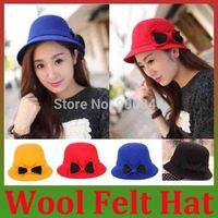 2014 New Hot Sale Fashion New Lady Womens Wool Felt Hat Blend Beret Beanie Spring autumn Winter Hat Ski Cap Christmas Gifts