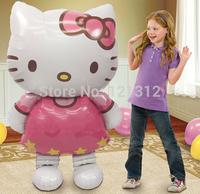 Free shipping! Oversized Hello Kitty cartoon cat foil balloons birthday wedding decoration inflatable balloon toys