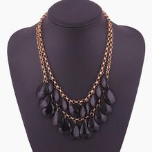450 European and American fashion jewelry fashion Bohemia fringe major suit short necklace