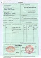 certificate of original for customs