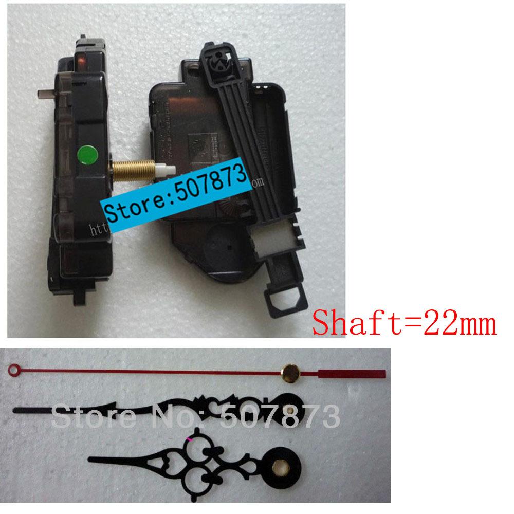 1set Quartz Pendulum Clock Movement Kit Spindle Mechanism shaft 22mm Jump seconds tick sound mechanism FREE SHIPPING(China (Mainland))