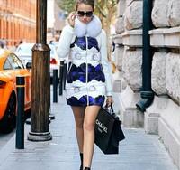2015 Newest Women Floral Slim Down Parkas White Duck Down Filler Coat Women Down coat Fox Fur Hooded Down Jakcet