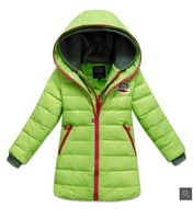 2014 Children's Fashion Down Jacket Long Sections Warm Girl's Down Kids Jacket Girl's Winter Coat & Outweat Coat
