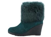 Women's Faux Fur Lined Hidden Heel Snow Boots