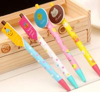 Creative stationery wholesale 36pcs blue ink sweet cartoon bear fish ballpoint ball pen school children kids prize gift toy