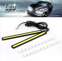 1pair(2pcs) 12V Ultra-thin COB Chip LED Car Auto DRL Daytime Driving Running Fog Light Lamp Free shipping