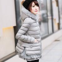 Winter women's cotton-padded jacket outerwear small winter wadded jacket female short design 2014 winter