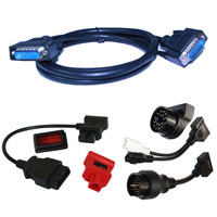 2014 Top quality Autel Maxidiag Elite MD802 Adaptor set for Honda,for BMW,FOR Nissa,For Audi/vw,for Mitubishi,MB 38 Pin