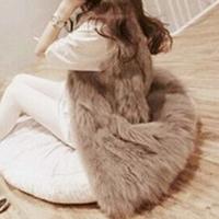 2014 Autumn Fashion Faux Fur Vest Colete De Pele Falso Winter Jacket Casacos Femininos Womens Coat Plus Size Long Waistcoat