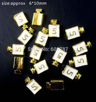 Free Shipping 50pcs/bag white 3D Alloy Perfume Bottle Nail Designs Stickers Nail Art Decorations