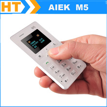 High Quality Original AIEK M5 4.8MM Ultra Thin Cellphone Mini phone pocket students Quad Band Low Radiation card cell phone