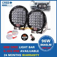 9 inch 96W LED Work Light 9-32V IP68 Offroad Fog Drive light LED Worklight External Light Truck Tractor Boat Free Cover