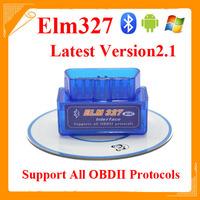 2014 Hot Sales MINI ELM327 Bluetooth V2.1 ELM 327 Interface OBD2/OBD II Auto Code Scanner Free Shipping