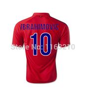 Top Thai New 2015 Pari third away soccer futbol jersey 14 15 Pari St Germain red football shirts free shipping customized