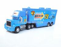 Best Gift!  Mack No.73 Rev-N-Go Race Team''s Hauler Truck 1:55  Diecast Pixar Cars Toy  Free Shipping