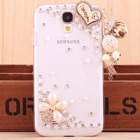 For Samsung i9500 diamond mobile phone shell S4 mobile phone sets the moon stick drill mobile phone shell