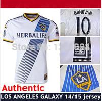 2014-2015 Los Angeles Galaxy home white soccer jersey Thailand DELAGARZA ZARDES Donovan Franklin Magee Gonzalez KEANE Beckham