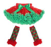 Free Shipping 2-10Years Princess Fluffy Girls Chiffon Skirts Children's Tutu Skirts Baby Kids Pettiskirt Dancing Christmas Skirt