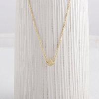 Wholesale 30pcs/Lot Zine Alloy Gold Simple Tiny Cube Necklace Charm Pendant Necklace Wedding Necklaces (mix color)