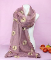 2014 fashion Women silk scarf High Quality Autumn Winter embroidered Shawls and Scarves Wraps