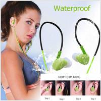 NEW High Quality Sport Waterproof Earphone With Microphone Hifi Sweatproof Headphone Headset Noise Isolating