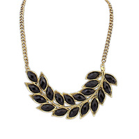 Fashion brand design new 18K gold necklace woman hot retro OL wheat leaf necklace 104919