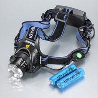 2 pcs/Lot  _ 1200LM Cree XML T6 Zoomable Adjustable LED Headlamp Headlight