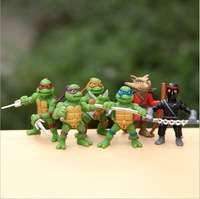 Free Shipping 6Pcs/lot Teenage Mutant Ninja Turtles TMNT Action Figures Toy Set Classic Collection for the boys Gift