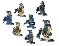 80pcs/lot swat team minifigures building block