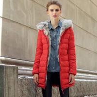 Winter Coat Women Duck Down Parkas Down-Jacket Thick 2015 New Brand Fashion Clothing Fur Hooded Zipper Long Down & Parkas