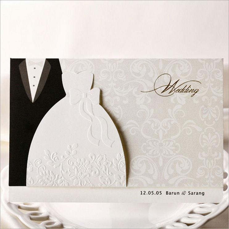Grátis frete novo estilo elegante e alegre de alta corte a laser nova festa especial e cartão do convite do casamento(China (Mainland))