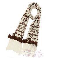 D015 exclusive LIZ LISA sweet bowknot snowflake loving flow Su boundary super long wool scarf