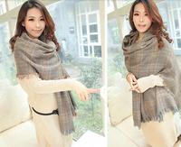 2014 Winter Scraf for Women Bristish  Plaid Cotton Scraf  Thick Long Design Women Scraf