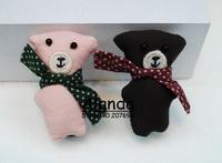FreeShipping 12pcs/lot Cute Little bear hair clip Small teddy toy hair pin F81107 (pink, brown)