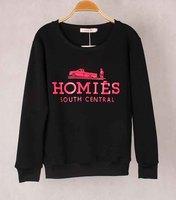 2014 New Fashion Unisex Sweatshirt HOMIES letter Hoodies 3D letters Print Sweater long sleeves Sweatshirts Women/Men Pullovers