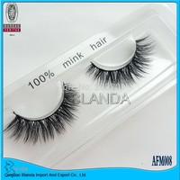 UPS Free Shipping Thick And Natural Long 100% Real Mink Eye Lashes Strip,100pair/lot  Brand Makeup 100% Siberian Mink Eyelashes
