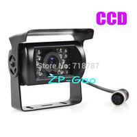 18 LED IR 4 Pin Bus Trailer CCD Night Vision Car Rear View Reverse Camera Bus Truck 12V Free Shipping