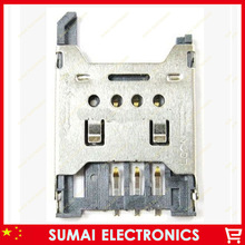 100pcs/lot  SIM card Holder/connector SIM 1.8H Memory card Holder, metal flip open cover size:24.6mm*17.7mm*1.8mm(China (Mainland))