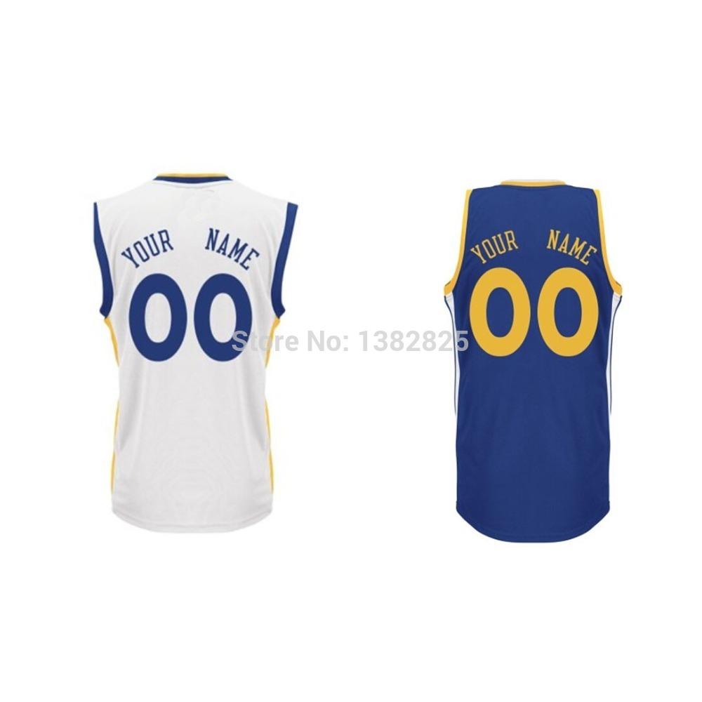 Free Shipping Custom Basketball Jersey Golden State Stephen Curry Customized Jersey Stitched White,Blue Sports Jersey(China (Mainland))