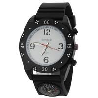 SANEESI Compass watch men sport casual fabric strap noctilucent analog display alloy case  shape wristwatch hot sale -5