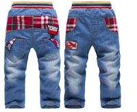 CP143 Free shipping 2014 new  spring / autumn denim children cowboy pants boys trousers kids k. k. a rabbit  jeans retail