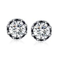 2014 new arrival austrian crystal stud earrings cute bridal earring for men