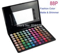Free shipping!!! New Pro 88 Colors Matte Eyeshadow Eye Shadow Pigment Palette + Mirror Brush