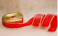 10 pcs Christmas decorations 200 * 6.3cm red Christmas  letter onion powder color ribbon Christmas ribbon christmas belt