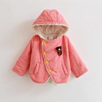 Clearance sale Super deal girl winter fleece hoodies kids warm hooded winter hoodied cardigan coat kids outerwear jacket