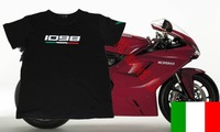 2014 New Freeshipping T-shirt 1098 superbike Tricdlore Motorcycle Tshirt