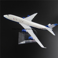 16cm Alloy Metal American Air United Airlines Boeing 747 B747 400 Airways Plane Model Aircraft Airplane Model w Stand Toy Gift