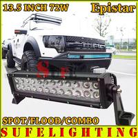 FREE DHL SHIPPING 13.5 INCH 72W LED LIGHT BAR OFFROAD TRUCK 4X4 LED DRIVING LIGHT BAR WORKING LIGHT BAR FOG CAR HEAD LIGHT 120W