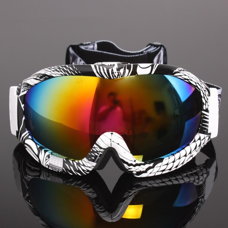 Fashion Outdoor Professional Skiing Eyewear Double Layer Ski Snow Snowboard Glasses Windproof UV400 Goggles Free Shipping(China (Mainland))